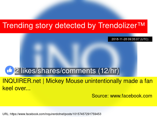 INQUIRER net | Mickey Mouse unintentionally made a fan keel over
