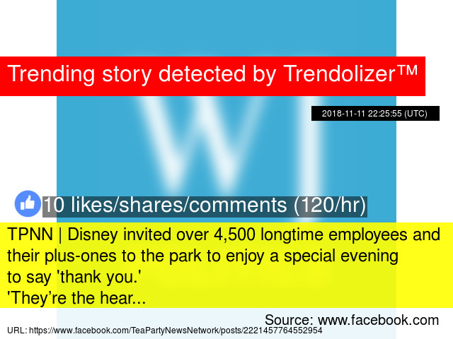 TPNN | Disney invited over 4,500 longtime employees and