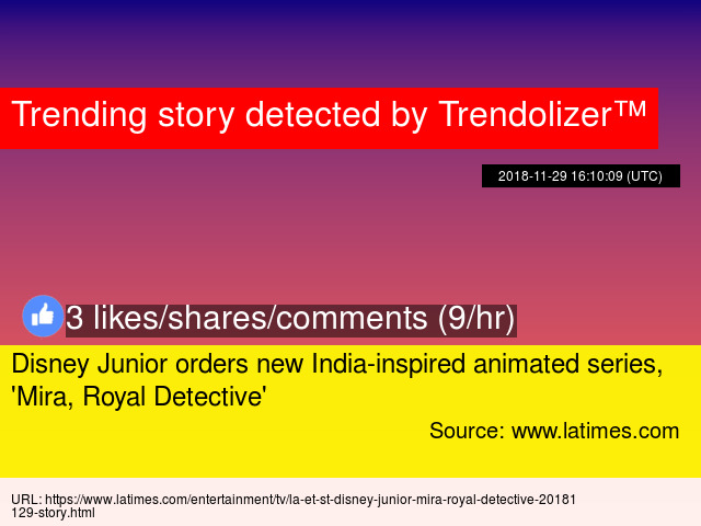 Disney Junior Orders New India Inspired Animated Series Mira Royal Detective