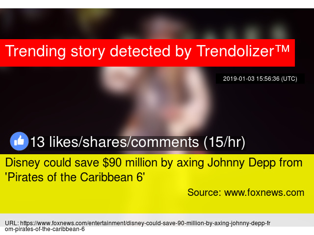 Disney could save $90 million by axing Johnny Depp from '