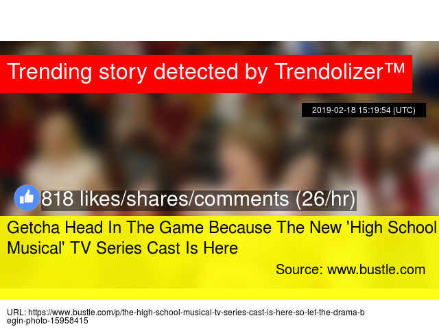 Getcha Head In The Game Because The New 'High School Musical' TV
