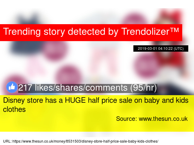 4b44fc75 Disney store has a HUGE half price sale on baby and kids clothes
