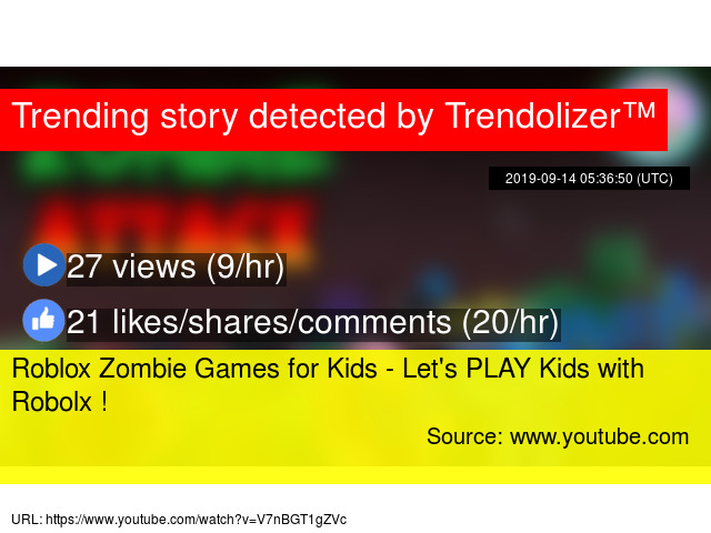 Roblox Zombie Games For Kids Let S Play Kids With Robolx