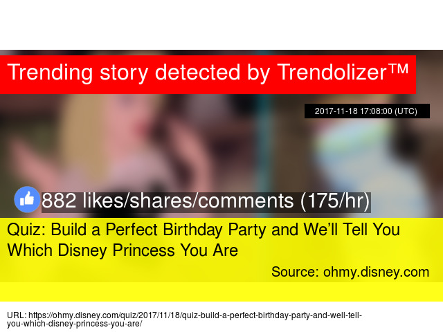 Quiz Build a Perfect Birthday Party and Well Tell You Which Disney