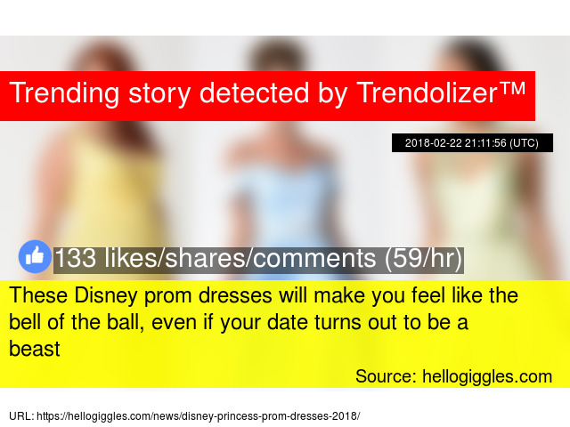 9a748721e80 These Disney prom dresses will make you feel like the bell of the ball