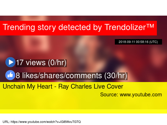 Unchain My Heart - Ray Charles Live Cover