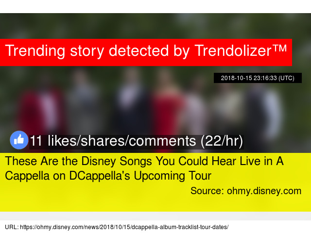 These Are the Disney Songs You Could Hear Live in A Cappella on